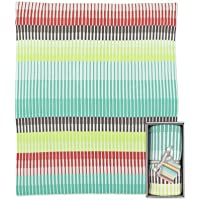 Weegoamigo Knitted Travel Blanket - Frankie Stripe by Weegoamigo
