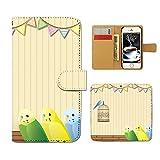Tiara iPhone6s (4.7) iPhone6s スマホケース 手帳型 小鳥 インコ 籠 バード 自然 森林 手帳ケース カバー [ET23801_03]