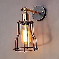 Edisonヴィンテージ壁ライト銅ランプホルダー素朴な鉄ケージ吊り壁ランプ