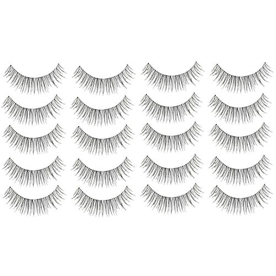 美容アクセサリー 10組216クロスクリスタル透明なステムナチュラルメイクアップラッシュチャーミングなロングシックブラックスティック 写真美容アクセサリー