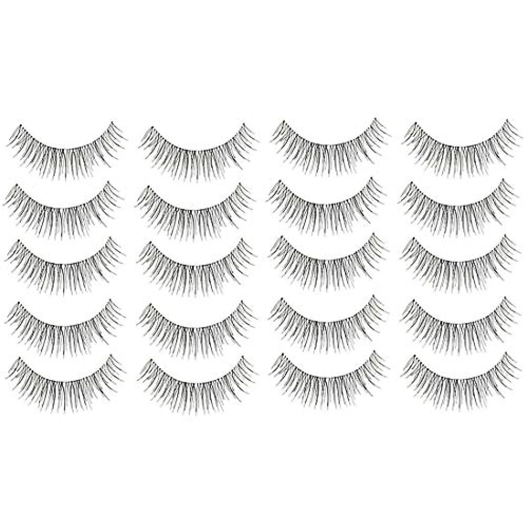 掃除平等飽和する美容アクセサリー 10組216クロスクリスタル透明なステムナチュラルメイクアップラッシュチャーミングなロングシックブラックスティック 写真美容アクセサリー