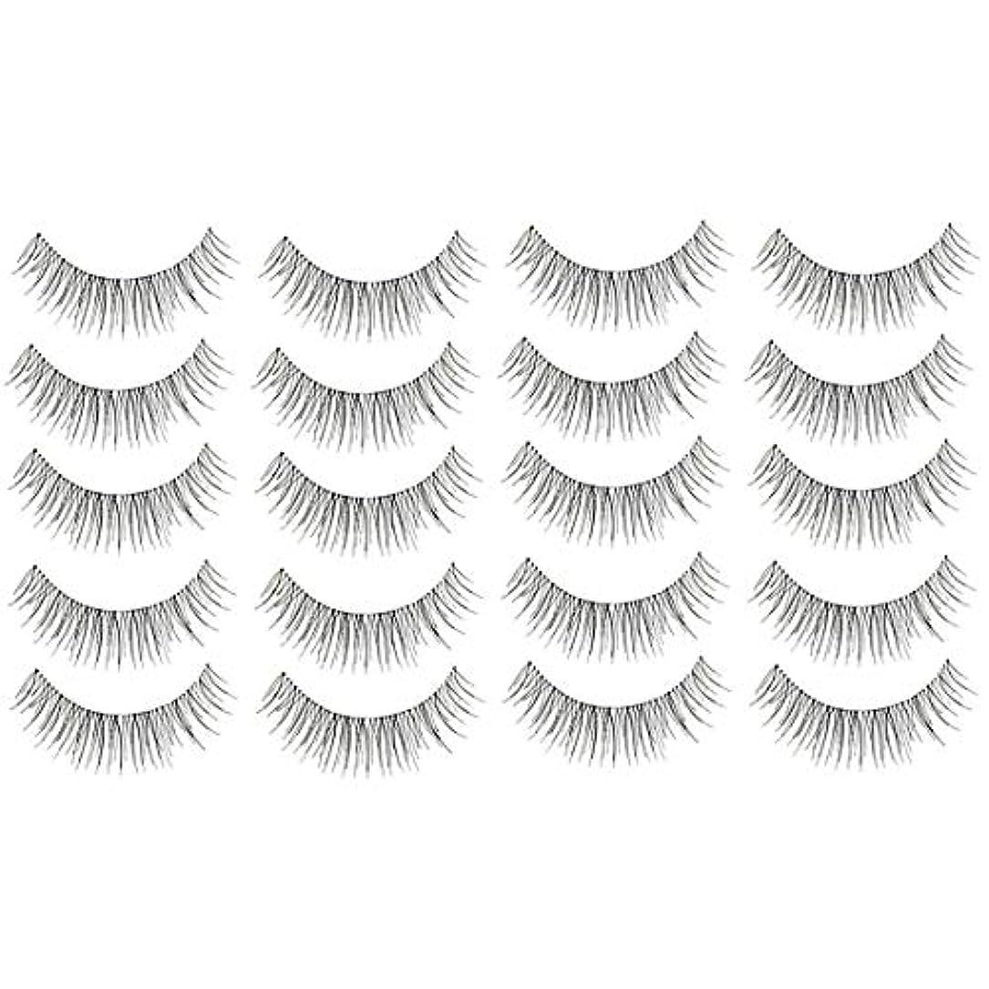 モーション提案配分美容アクセサリー 10ペア218クリスクロス透明なステムナチュラルメイク授乳魅力的な長いシックな黒い偽のまつげ 写真美容アクセサリー