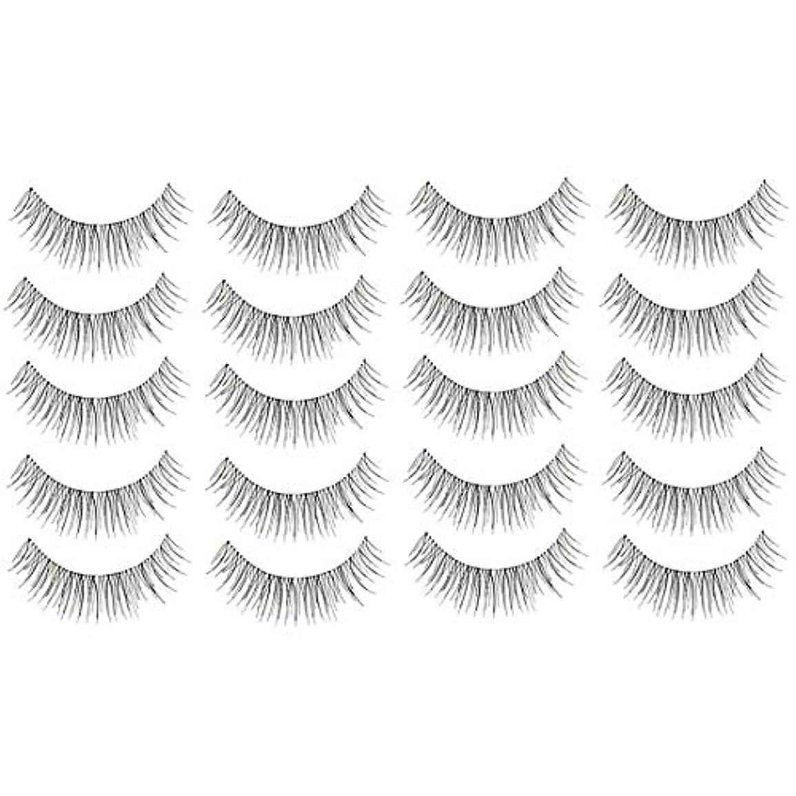 ダメージガチョウ偏心美容アクセサリー 10ペア218クリスクロス透明なステムナチュラルメイク授乳魅力的な長いシックな黒い偽のまつげ 写真美容アクセサリー