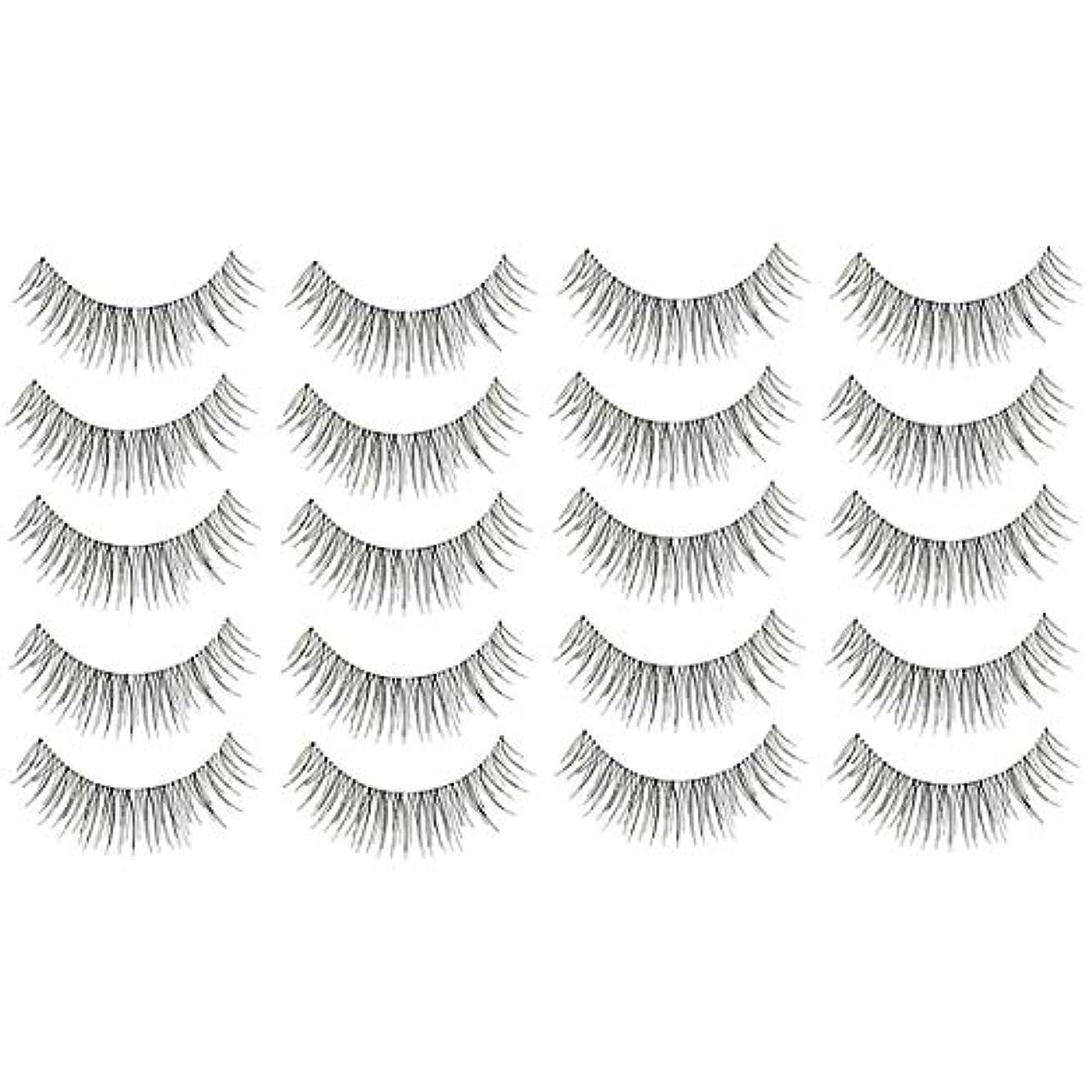 夏署名栄光の美容アクセサリー 10ペア218クリスクロス透明なステムナチュラルメイク授乳魅力的な長いシックな黒い偽のまつげ 写真美容アクセサリー