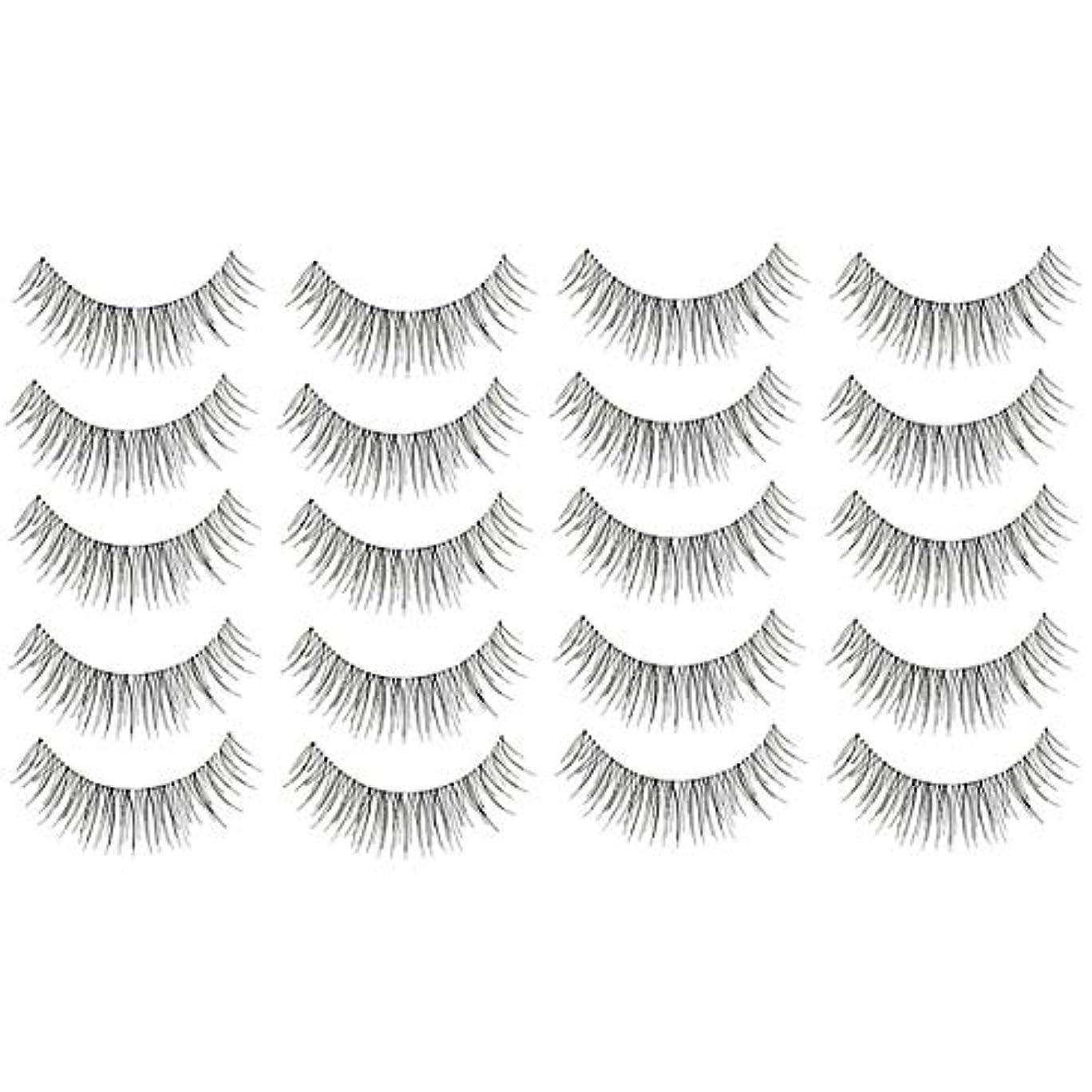 ランデブー部屋を掃除する合併症美容アクセサリー 10ペア218クリスクロス透明なステムナチュラルメイク授乳魅力的な長いシックな黒い偽のまつげ 写真美容アクセサリー
