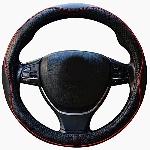 ZATOOTO車用ハンドルカバー 本革 高品質ステアリングカバー 高級感溢れ 四季汎用 LY98-HH