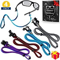 Eye Glasses String Holder Straps - Sports Sunglasses Strap for Men Women - Eyeglass Holders Around Neck - Glasses Retainer Cord Chains Lanyards