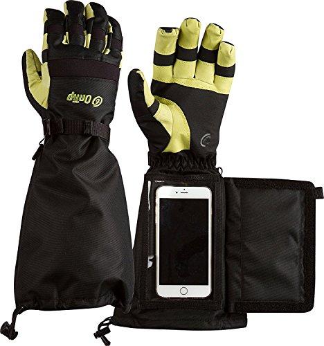 High Quality Men's OnGlove Touchscreen Gloves with Phone Pocket, Medium, LIGHT GREEN (OT-ONGLV-GRM)