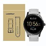 Lamshaw ステンレス メタル 高品質 ベルト 交換バンド 対応 FOSSIL 腕時計 Q MARSHAL スマートウォッチ (シルバー)
