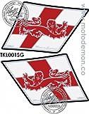 MOTOGRAFIX(モトグラフィックス) ボディーパッド TRIUMPH STYLE SPRINT ST1050(05-09) KNEE ホワイト/レッド MT-TKL001SG