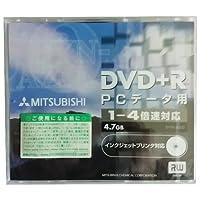 三菱メディア DVD+R データ 4.7GB 1〜4倍速 ジュエルケース1枚