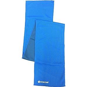 カバーワーク×クールコア ミニタオル 機能性冷感タオル ミニ ブルー 幅15×長さ90cm FT-5802