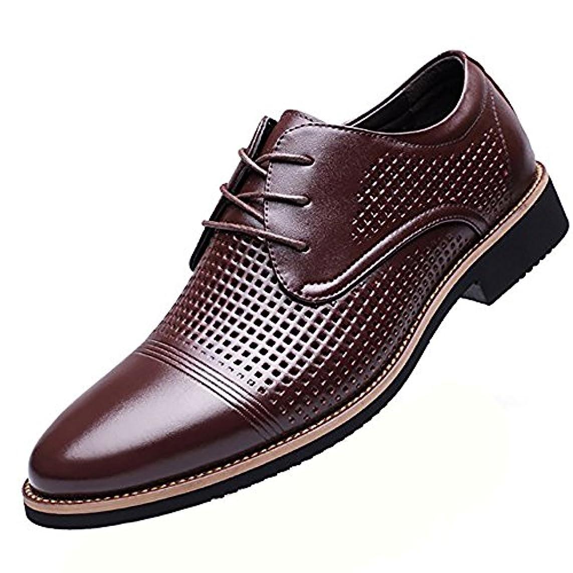 富計画的どちらかFEIDA 革靴 メンズ 靴 ビジネスシューズ メンズシューズ メッ 通気性のある ブラウン ブラック