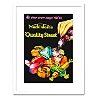 Food Ad Sweet Candy Chocolate Nut Fondant Creme UK Framed Wall Art Print イギリス