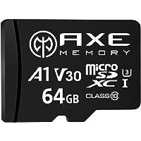 [Amazon限定ブランド] アクス 64GB microSDXCカード UHS-I U3, A1, V30, 4K U…