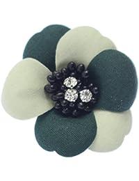 全6色2トーンフラワー 花のミニコサージュ ラペルピン ピンブローチ ピンズ