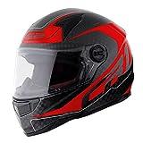 MHR LS2 DIABLO(ディアブロ) カーボン フルフェイスヘルメット カーボン/レッド Mサイズ