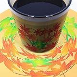 遊生活・竜玉堂 グラスに花咲く イリュージョンコースター紅葉・グラスセット プレゼント 布製