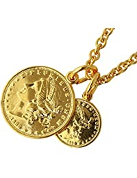 SHUMAIL(シュメール) ダブルゴールド コイン ペンダント ネックレス (マーキュリー)