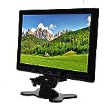 TOGUARD 10.1 インチ TFT カラー液晶超薄膜の 2 ビデオ入力 PC オーディオ ビデオ ディスプレイ VGA HDMI AV 入力セキュリティ モニター画面リモコン、内蔵スピーカー、広視野角