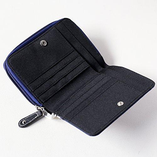 fa34d95aa32b ... CONVERSE (コンバース) オールスター ベーシック ウォレット 二つ折り 財布 キャンバス レディース メンズ ラウンドファスナー 2  ...