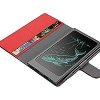 「MEMO 記」- 最新の電子ペーパー × 10000mAh大容量モバイルバッテリー、 2USBポート、スーパー手帳型モバイルバッテリ - Designed by Lepow (レッド)