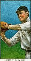 New York Highlanders–Jeff Sweeney–野球カード( 24x 36ジクレーギャラリー、壁用旅行ポスター)
