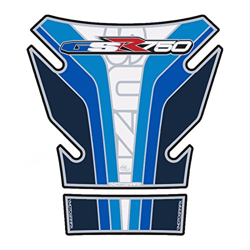 MOTOGRAFIX(モトグラフィックス) タンクパッド SUZUKI GSR750 ブルー/ホワイト MT-TS027BW