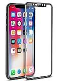 OSEI iPhone X ガラスフィルム 5D 曲面 全面保護 フルセット  全面フルカバー 強化ガラス 気泡レス  貼り直し可 防指紋 スムースタッチ  耐衝撃 疎油撥水  高透過率 9H硬度 (iPhone X 黒)