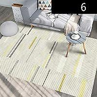 housewaresstore ノルディック近代的なミニマリストかわいいスタイルの風のラウンドカーペットベッドルーム回転チェア吊りバスケット吊りマットコンピュータチェアクッション carpet (色 : D, サイズ さいず : 120×200cm)