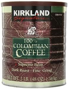 【KIRKLAND カークランド】 100%コロンビアコーヒー 1.36kgレギュラーコーヒー(粉) 細挽き