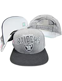 Oakland Raiders Archダークグレー/ブラック2トーン調整可能なスナップバック帽子/キャップ