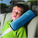 [CAR UNIVERSAL.JP] シートベルトショルダーパッド スーパーソフト枕 【グレードPP綿】 チャイルドシートベルトカバー 車内泊 車中泊 旅行 ブルー