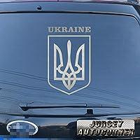 3s MOTORLINEウクライナの国章デカールステッカーウクライナフラグ車ビニールPickサイズカラーDie Cut No bkgrd 24'' (61.0cm) ブラック 20180412s12
