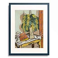 マックス・ベックマン Max Beckmann 「Still life with mimosa. 1939」 額装アート作品