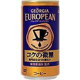 コカ・コーラ ジョージア ヨーロピアンコクの微糖 185g缶×90本【3ケース】
