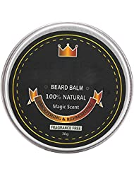 ひげバームコンディショナー、ひげケアグルーミングバーム、ひげを強くし、柔らかくするための口ひげ保湿スムージングワックス30g (1#)