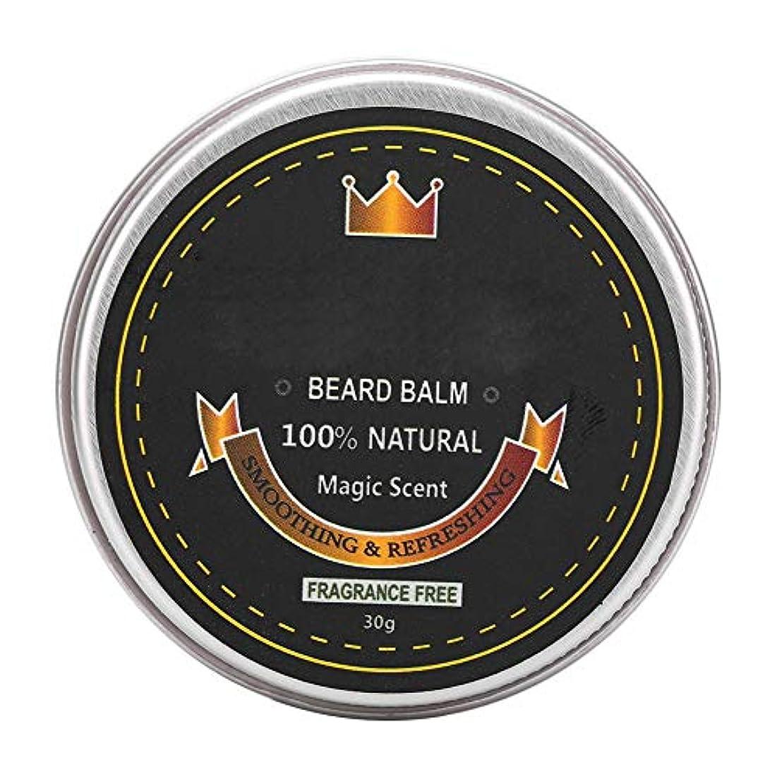 毛細血管在庫バックグラウンドひげバームコンディショナー、ひげケアグルーミングバーム、ひげを強くし、柔らかくするための口ひげ保湿スムージングワックス30g (1#)