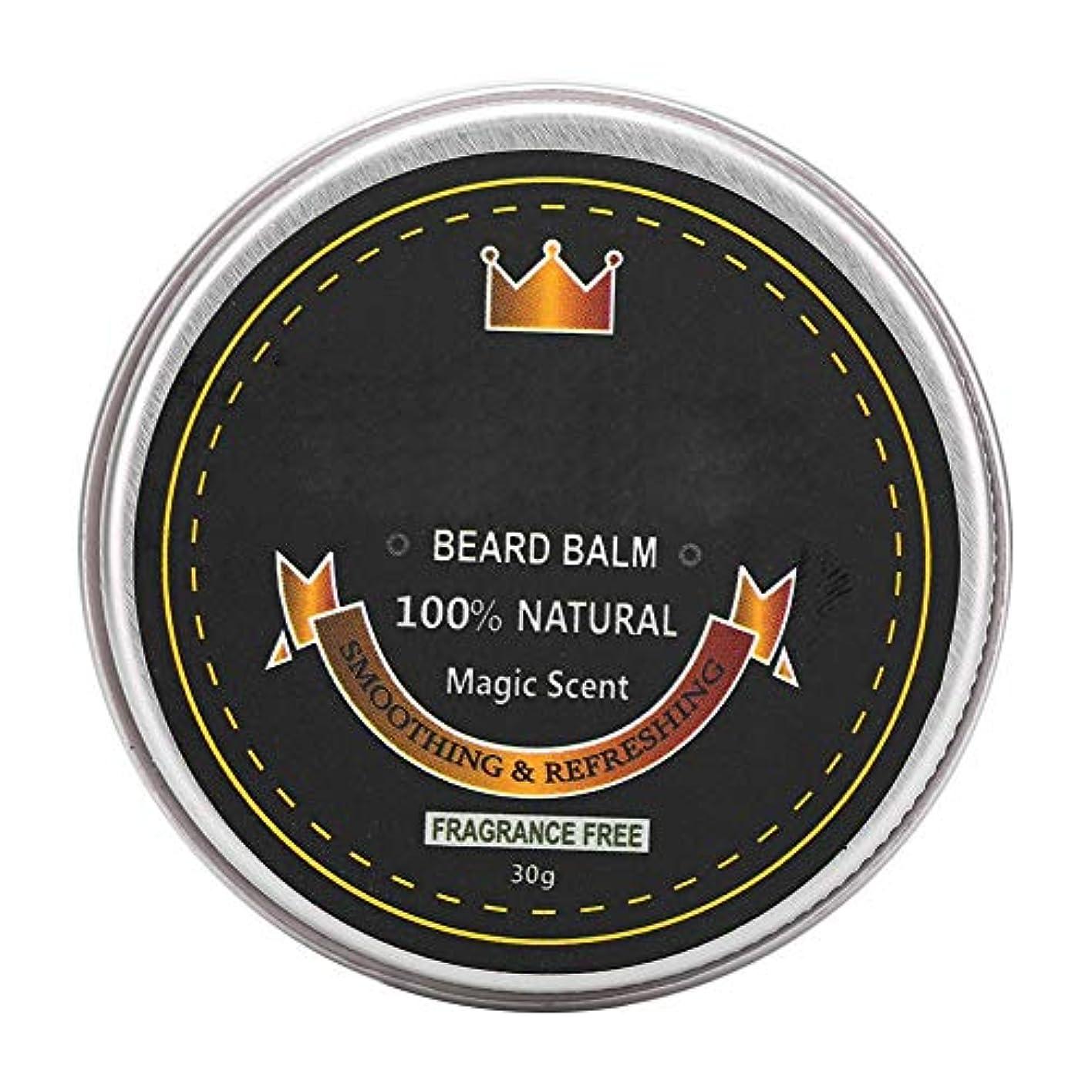 財団物足りないバインドひげバームコンディショナー、ひげケアグルーミングバーム、ひげを強くし、柔らかくするための口ひげ保湿スムージングワックス30g (1#)