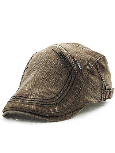 (ムコ) MUCO キャスケット ハンチング帽 欧米風 ニットハンチング オシャレ ウォッシュ カジュアル 調節可能 アウトドア ゴルフ プレゼント メンズ レディース(6カラー) green