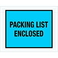 Tape Logic TLPL407 Packing List Enclosed Envelopes Full Face 7 x 5 1/2 Blue (Pack of 1000) [並行輸入品]