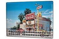 カレンダー Perpetual Calendar Holiday Travel Agency G. Huber gas station America Tin Metal Magnetic
