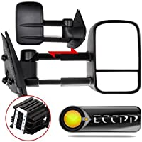 ECCPP Towing Mirror for 2007-2013 Chevy GMC Silverado Sierra (Just 07 New-Body Style) Power Heated Side Pair Mirrors [並行輸入品]