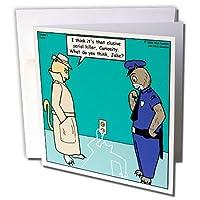 リッチDiesslins Funny Cat漫画–Curiosity Killed the Cat–グリーティングカード Set of 6 Greeting Cards