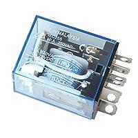 Sherry 電磁リレー パワーリレー 電磁継電器 小型 8ピン AC 110V / 120V交流プラグ