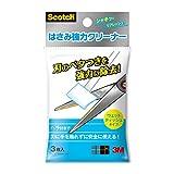 スコッチ はさみ強力クリーナー ウェットティッシュ 3枚入 安全プラスチックヘラ付 NK-CL3