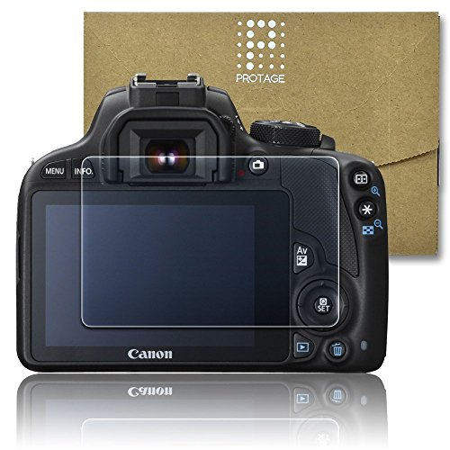 PROTAGE Canon EOS Kiss X7 用 ガラスフィルム ガラス 製 フィルム 液晶保護フィルム 保護フィルム 液晶プロテクター キヤノン イオス キス X7
