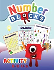 Numberblocks Activity Book: Numberblocks - 1 to 20: Word Search, Crossword Puzzle, Sudoku for Kids, Preschool