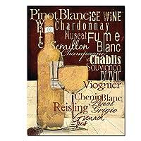 赤ワイングラスポスター印刷現代キッチン油絵キャンバス壁アート絵画バーダイニングルーム装飾-60×80センチ×1個フレームなし