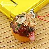 そっくり 食品サンプル 携帯ストラップ (たこ焼き)